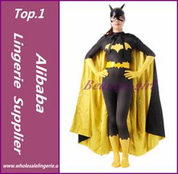 2017 trajes de cuerpo de spandex al por mayor La mayor-Batgirl Barbara Gordon Cosplay del super héroe Zentai Catsuit del cuerpo completo se adapta a los trajes de Halloween Lycra Spandex Traje descuento trajes de cuerpo de spandex al por mayor