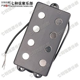 Wholesale Open style electric bass humbuckers cores connecting cable two connections bass pickup with springs backside
