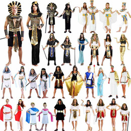 Wholesale Egypt Costume Elegant King Queen Pharaoh Costume Adult Cosplay Halloween Carnival Costumes Fantasia Fancy Dress Party Supplies