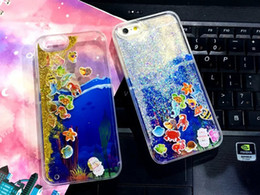 Colorful Moving underwater world Liquid Glitter Quicksand 3D Bling Phone Case Cover For 5.5 inch Iphone 6s Plus
