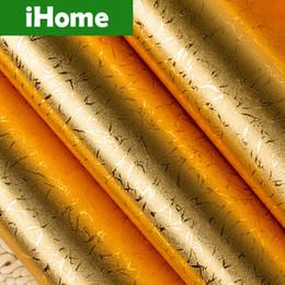 Wholesale Gold Color Wallpaper Decoration Decorative the Interior Decoration Murals Europe Style Golden D Texture Original PVC Wall paper