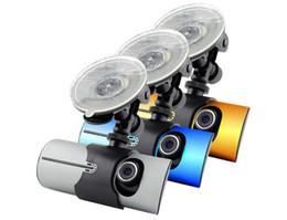 Cámaras de lentes de porcelana en venta-Función del GPS cámara dual del coche de la cámara de la visión nocturna x3000 de 2.7 pulgadas, dvr dual R300 del coche de la lente libera el envío