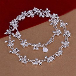 High grade Light bead necklaces hanging grapes sterling silver necklace STSN156,fashion 925 silver Chains necklace factory direct sale