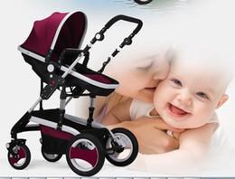 Wholesale pk604 Billion Levin high landscape stroller summer sit sleeper earthquake avoid reversing four folding baby baby