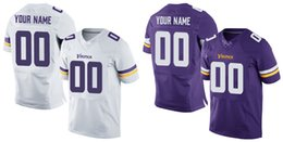 Wholesale HOT SALE Men s MNSD Vikings Custom Elite Football Jerseys High Quality Stitched Any Name Number You Decide Two Colors Allowed