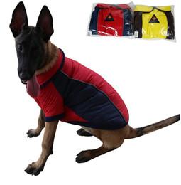 Большие костюмы для собак для продажи-Новая собака поставляет собака костюмы зимы теплые толстые большие одежды собаки куртки водонепроницаемый обратимым свитер собаки 2 цвета 6 размеров