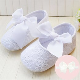 Wholesale Spring Soft Sole Girl Baby Shoes Cotton First Walkers Fashion Baby Gilr Shoes Butterfly knot First Sole Babies Shoes
