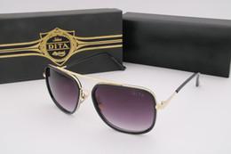 Gafas de diseño fresco en venta-Gafas de sol de gran tamaño de lujo de Dita 62245 Sunglass AAA de la vendimia Gafas de sol de lujo cuadradas de la marca de fábrica del diseñador de Vogue para el hombre con
