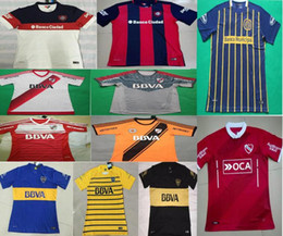 Wholesale DHL shipping thai quality Argentina club Independent Boca Juniors River Plate San Lorenzo Rosario Central soccer football jersey