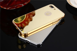 DHL Free Shipping Metal Aluminum Frame + Hard PC Plating Back Cover Metal Frame Mirror Case For Apple iPhone 7