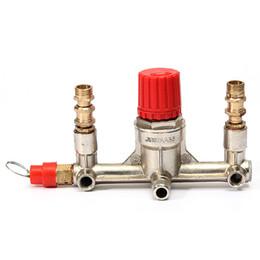 Wholesale Durable Quality Air Compressor Double Outlet Tube Pressure Regulator Valve Fitting Parts Best Price knife A set of keys dremel