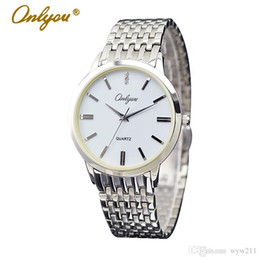 Wholesale Luxury Watches For Men Onlyou Brand Hot News Business Couple Simple Watch Stainless Watch Automatic Watches Men Silver