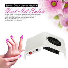 Wholesale 220V V Nail Art Salon Suction Dust Collector Manicure Filing Acrylic UV Gel Tip Machine Vacuum Cleaner Salon Tool