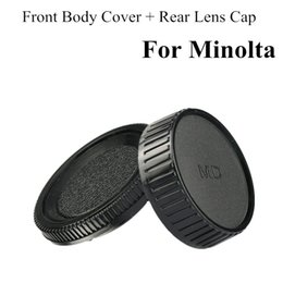 Wholesale 1Pair Camera Lens Body Cover Rear Lens Cap Hood Protector for Minolta MD MC SLR Camera and Lens