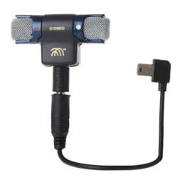 Usb gopro en venta-ST-189 Micrófono Estéreo Externo Go Pro Accesorios Adaptador Mini Cable Adaptador USB Para Cámara Deportiva GoPro Hero 3+ 4