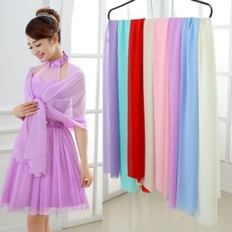 Wholesale Colorful Evening Dresses Long - Bridal Wraps Chiffon Colorful Bolero 2016 New On Sale bolero mariage bolero Jackets for Evening Dresses Bridesmaid Girls Scarf