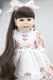 Wholesale 2016 Hot Sale inch Reborn Lovely American Girl Doll Realistic Baby Toys Made From Full Vinyl With Beautiful Clothes And Shoes