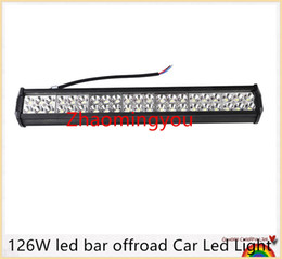 2016 126W led bar offroad Car Led Light Bar Work Driving Boat Car Truck Led Light Spot Flood Combo led lightbars 4X4 4WD ATV