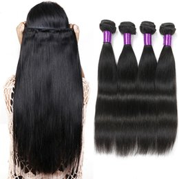 8A Remy Brazilian Straight Hair 4 Pcs Peruvian Indian Malaysian Cambodian Virgin Hair Weave Bundles Top Quality Remy Human Hair Extensions