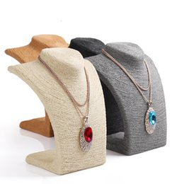 HOT-Selling 4 Colors Mannequin Cord Necklace Decorate Pendant Jewelry Display Frame Stand Show For Women Wholesale