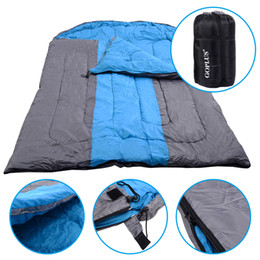 "Wholesale Lovers Sleep - 97""x60"" Outdoor 2 Person Sleeping Bag Hiking Camping Envelope Lover Sleeping Bag"
