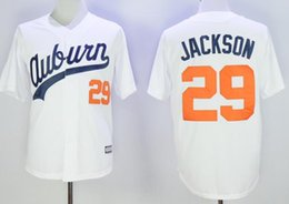 Wholesale 29 Bo Jackson Jerseys Baseball Jersey White Throwback VINTAGE Baseball Jersey Size M XL Stitched Best Quality Mixed order