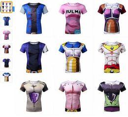 Wholesale New Summer men animation D tight short sleeve T shirt Classic Anime Dragon Ball Z Super Saiyan d t shirt tees tops