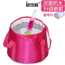 Wholesale Lightweight portable Folding tub footbath Lavatory bucket outdoors travel camping fishing can put the hot water