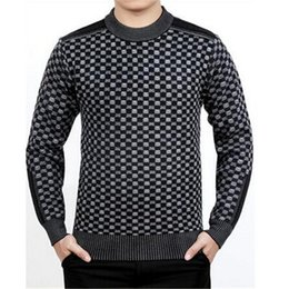Wholesale-New 2016 Fashion Wool Winter Warm o-neck long sleeve Casual Pullovers Knitted sweater man outdoors oversized male sweaters