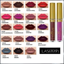 New Lasplash Lip Couture Liquid Matte Lipstick 14 colors High quality Waterproof Matte Lip Gloss DHL Free Shipping 60pcs