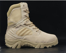 Wholesale 7 quot Delta Tactical Boots Military Desert Combat Boots Shoes Summer Breathable Boots SAND AND BLACK EUR SIZE