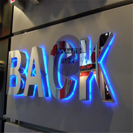 Wholesale Factory Outlet Outdoor stainless steel back lit iluminated LED letter signs