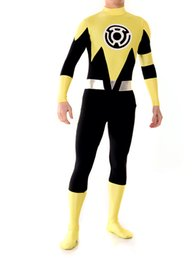 Lantern Sinestro Corps Custom Made Yellow Lantern Adult Superhero Costume Halloween Party Cosplay Suit