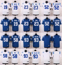 Wholesale 2016 NEW Jerseys Pat McAfee Andrew Luck Andre Johnson Coby Fleener Elite Frank Gore Football jerseys Embroidery Logo