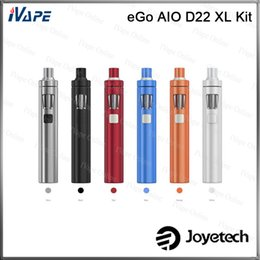 Wholesale 100 Original Joyetech eGo AIO D22 XL Kit All in one Stlye With ml Capacity mah Battery Adjustment of Air Inflow Child Lock Kit