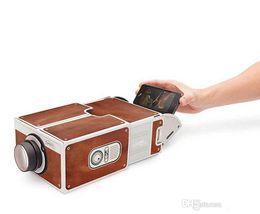 Smartphone Projecteur V2.0 DIY Carton Installation gratuite sans Power Portable Home Cinema pour 3,5