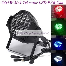 Free shipping 54X3W Cast aluminium High power LED Stage Lighting RGB 3in1 Tri LED Par Can Par Lights