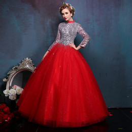 luxury long sleeve red collar sequined beading ball gown medieval Renaissance Gown queen Dress Victoria Antoinette Belle