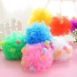Wholesale Fashion Bathroom Leaves Fresh Bath Ball Nylon Scrubber Body Cleaning Mesh Shower High Quality Bath Sponge Bath Flower