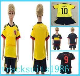 Wholesale 2016 Colombia Kids Jerseys child teens Shirt JAMES FALCAO CUADRAD America s Cup Wholesalers Sportswear adult rugby