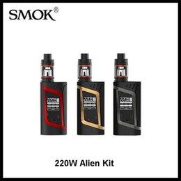 Wholesale Original SMOK Alien Starter Kit W Alien Box MOD whit ml TFV8 Baby Beast Tank V8 Baby Q2 Baby T8 Coil VS Smok h priv kit