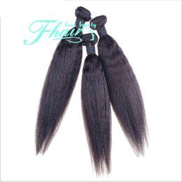 Promotion 22 pouces extensions de cheveux longueur 8A Cheveux bruns de Yaki Cheveux droits des extensions 10