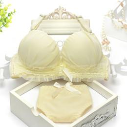 Cute sweet girls underwear sets cotton thin section gather Bra Set
