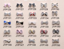 Wholesale Nail Art Tips Stickers Deco Bow Knot Alloy Jewelry Multicolor Glitter Rhinestone nail gel