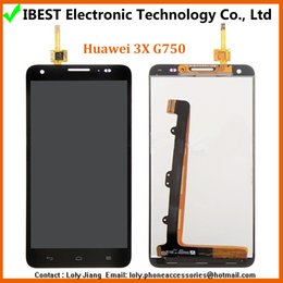 """Original 100% black Replacement LCD 5.5"""" Display Touch Digitizer Screen Assembly For Huawei Honor 3X G750 Free Shipping"""