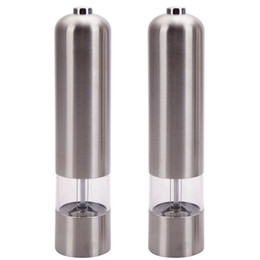 Wholesale USA High Quality Automatic Stainless Steel Pepper Mill and Salt Grinder Kithchen Mill Tools