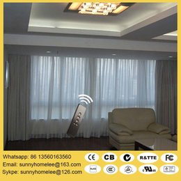 Wholesale Double rail Silent curtain blinds size customed acceptable electric operate and battery operate options compatible with home automation
