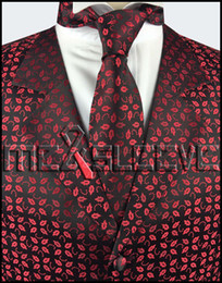 Promotion boutons de manchette de smoking Vente en gros chaud vente sur mesure col smoking classique sans jeu de manchon (smoking + cravate + hanky + boutons de manchette)