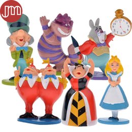 Wholesale New Alice in Wonderland Playset Action Figure Toy Cake Toppers Cartoon Anime Doll Juguetes Brinquedos Small cm Tracking