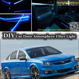 Wholesale interior Ambient Light DIY Tuning Atmosphere Fiber Optic Band Lights For Opel Vectra A B C D Car Door Panel illumination Refit